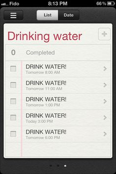 Smart: alarm reminders for drinking water!