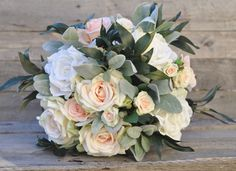 Keepsake faux wedding flowers shipping by Holly's Flower Shoppe on Etsy.
