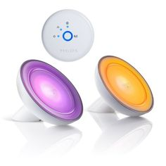 Philips 259531 Hue Bloom Starter Pack, 2 Blooms and 1 Bridge, Works with Amazon Alexa