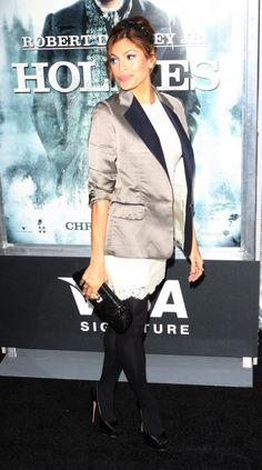 Celebrities attend the Sherlock Holmes premiere in NYC.