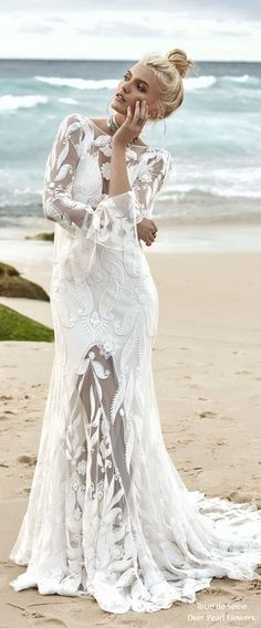 Rue de Seine Moonlight Magic Boho Wedding Dress marrakesh_front #weddings #dresses #weddingideas #lace