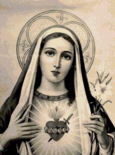 Предпросмотр схемы вышивки «Дева Мария»