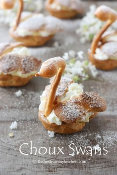 Choux Swans with Vanilla Creme