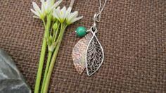 Handmade Sterling Silver Filigree Boho Style Mixed Metal Necklace   Metalmorphos - Jewelry on ArtFire