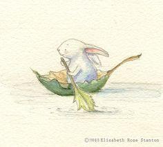 The Little Rower Original watercolor/Elizabeth Rose Stanton - inspiration