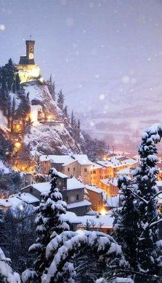 magic of winter, brisighella innevata italy