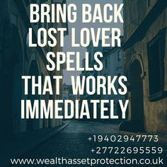 Powerful wealth protection spells and asset protection spells that work effectively. Powerful protection spells help to protect you, your family, business, etc Lost Love Spells, Powerful Love Spells, Attraction Spells, Bring Back Lost Lover, Voodoo Spells, Love Spell That Work, The Enchantments, Protection Spells, Grandparents