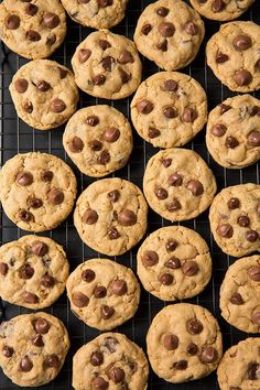 Peanut Butter Oatmeal Chocolate Chip Cookies @FoodBlogs