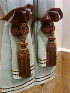 Repurposed Curtain Tie Backs Bathrooms Pinterest Ties And Towels