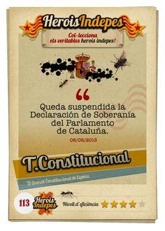 """#HeroisIndepes 113. Tribunal Constitucional: """"Queda suspendida la Declaración de Soberanía del Parlamento de Cataluña."""""""