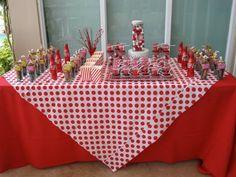 Coca cola birthday party table