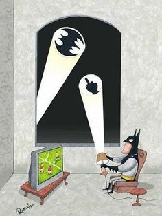 "Even Batman needs some ""me time."""
