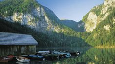 Foto: Oberoesterreich Tourismus/Popp: Gleinkersee Mountains, Nature, Travel, Boathouse, Hill Walking, River, Waterfall, Tourism, Alps