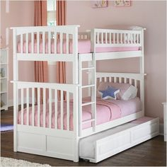 trundle bed this is what I would like for the girls small and girlie but all three can fit.