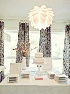 Ikea light over cake area...I've got one just like this already. We can even put a different color bulb & set the light level
