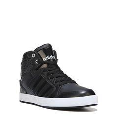 Adidas Kids' Neo Raleigh High Top Sneaker Pre/Grade School Shoes (Black /White/Print)