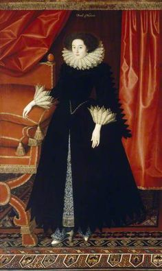 Elizabeth Bassett, Countess of Newcastle by William Larkin (attributed to)    Date painted: c.1614–1618 @ Kenwood House, London