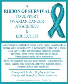picture of teal ribbon - Google Search
