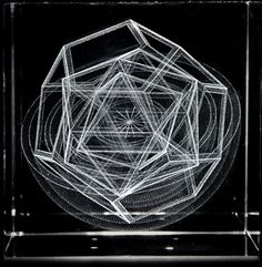 A 3D model of Johannes Kepler's diagram of the inner planets, first published in his Mysterium Cosmographicum of 1596.  At that time six planets were known, and the hypothesis that their orbits were spherical shells nested between the five Platonic solids seemed as reasonable as string theory does now.    This model shows polyhedra corresponding to the inner planets: Mercury, Venus, Earth and Mars.
