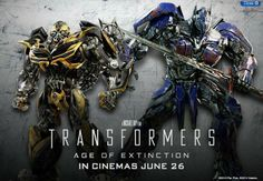 Brand NEW ! Promo pic from Transformers: Age of Extinction featuring Optimus Prime & Bumblebee. Transformers 4, Live Action Movie, Action Movies, Love Movie, I Movie, Movie Blog, Movie Songs, Extinction Movie, Robot Images