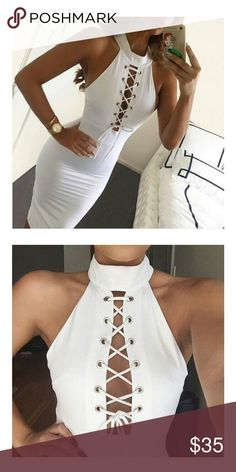 🎉🎉🎉All White🎉🎉 Really nice very cute and  trendy dress Dresses