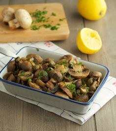 Easy Garlic Butter Roasted Mushrooms
