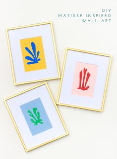 How to make Matisse inspired wall art for your home in 30 minutes!
