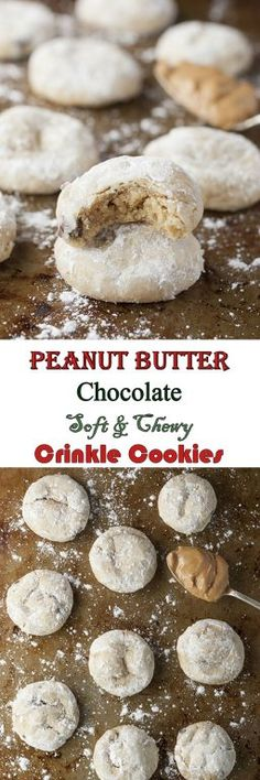 Peanut Butter Chocolate Soft & Chewy Crinkle Cookies recipe loaded with peanut butter and mini chocolate chips are your new favorite holiday Christmas cookie to add to your dessert trays!