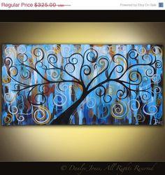Acrylic Canvas Painting Ideas   Acrylic Tree painting on canvas 48x24 by ...   Painting ideas