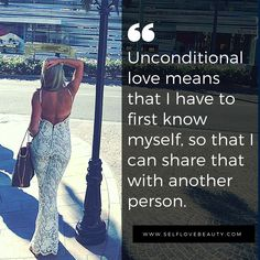 Love yourself first before you give your love to others.