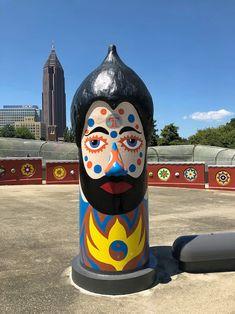 In Atlanta, Georgia's Folk Art Park: A Homage to Outsider Visionary Artist St. EOM's Pasaquan Homestead Visionary Art, Atlanta Georgia, Totems, Homesteading, Folk Art, The Outsiders, Explore, Park, Artist