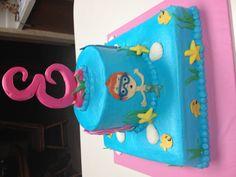 Back of bubble guppies cake
