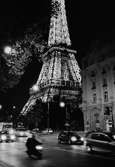 Eiffel Tower by night, Paris