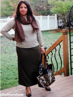 Fashion after Fifty #ootd #dressforless #maxiskirt #animalprint #shethrifts #DelawareBlogger #BLMGirls @dedivahdeals