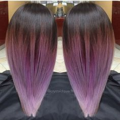 Purple and gray ombré by @crystaldquach What a beautiful way to start the morning! #purple hair #ombré #balata get #hotonbeauty @hotonbeauty Hot Beauty Magazine #featurepage