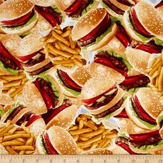 Octoberfest Side of Fries Multi from @fabricdotcom  Designed by Maria Kalinowski in association with Kanvas Studios for Benartex, this cotton print is perfect for quilting, apparel and home decor accents. Colors include brown, tan, gold, yellow, red and green.