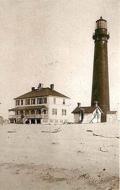 Sand Island, #Alabama AL 1900 Sand Island #Lighthouse Collectible Vintage Postcard Sand Island Alabama AL lighthouse with history on back. Unused Leib Archives 1980s vintage chrome postcard with circa 19 http://dennisharper.lnf.com/