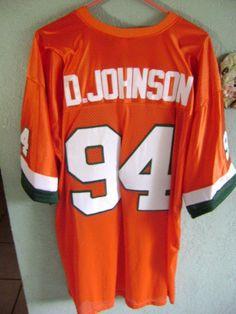 Dwayne Johnson's Miami Hurricane Football Jersey