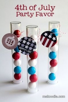 July 4th Gumball Favors for your hot tub or pool party