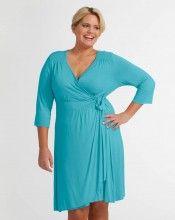 Staple 3/4 Sleeve Wrap Dress | Plus Size | Delray Ocean