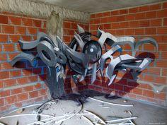Arte tridimensional em Graffiti - Por Sérgio Odeith.