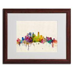 Minneapolis, Minnesota by Michael Tompsett Matted Framed Painting Print