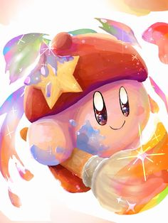 """from when they added this in Kirby Star Allies.every time i got it, i would call Kirby """"Ink! New Super Mario Bros, Super Smash Bros, Viewtiful Joe, Chibi, Videogames, Kirby Games, Kirby Character, Pokemon, Meta Knight"""