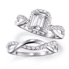 Sterling Sliver Emerald Cut Engagement Set  love is in the air! https://jjeszeck.avonrepresentative.com