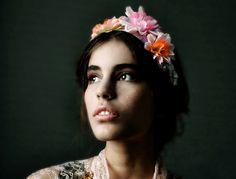 Flowers and spikes headband.