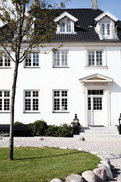 The summer and seaside boarding house, Helenekilde in Denmark.