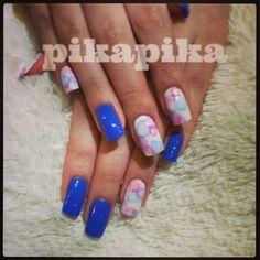 """bubbles with the blue  #nail #nails #nailart #fashion #cute #beautiful #love #girl #art #polish #nailswag #unhas #manicure #nailpolish #manicura #beauty…"""