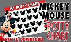 Download our free Mickey Mouse potty Rewards training chart by clicking through to the blog. We also have Paw Patrol Mario Birthday Party, 21st Party, Diy Birthday, Birthday Parties, Party Printables, Free Printables, Mickey Mouse Clubhouse Party, Chip Bags, Letter Size Paper