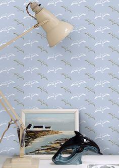 Sneak peek Mini Moderns Gulls wallpaper