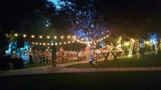 Strung lights make for a perfect night.  By Old Beginnings Wedding Design